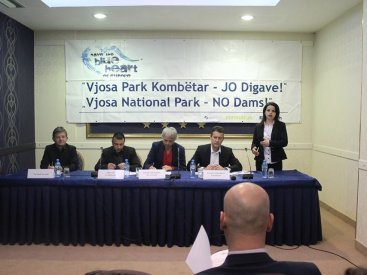 Press conference for Vjosa Tour