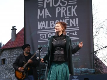 Protest-concert against HPP-s in Valbona